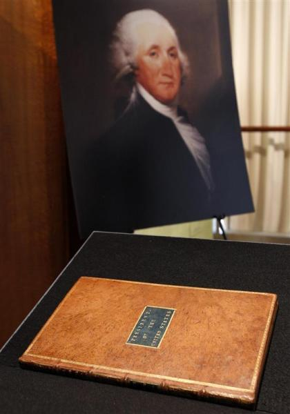 Record de vente pour la constitution de george washington