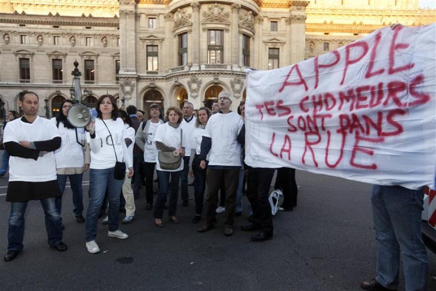 La sortie sociale de l'iphone 5 à paris