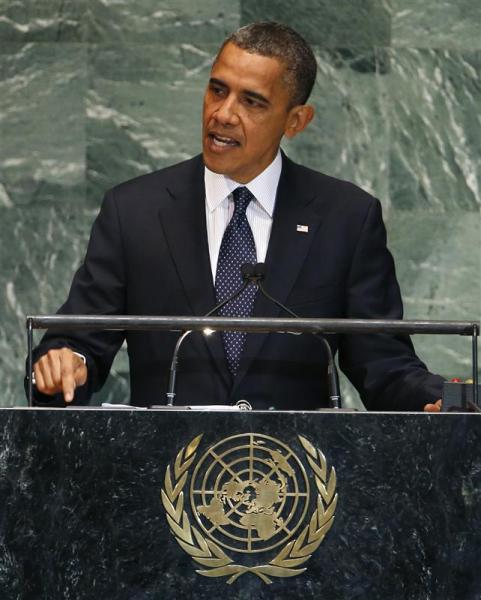 Barack obama à la tribune de l'onu