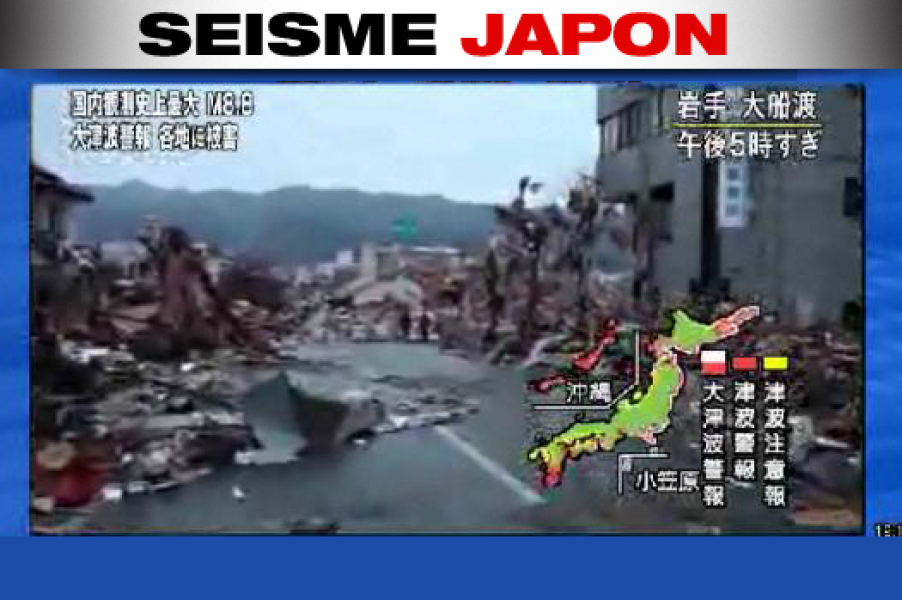 Japon: les images du séisme en direct