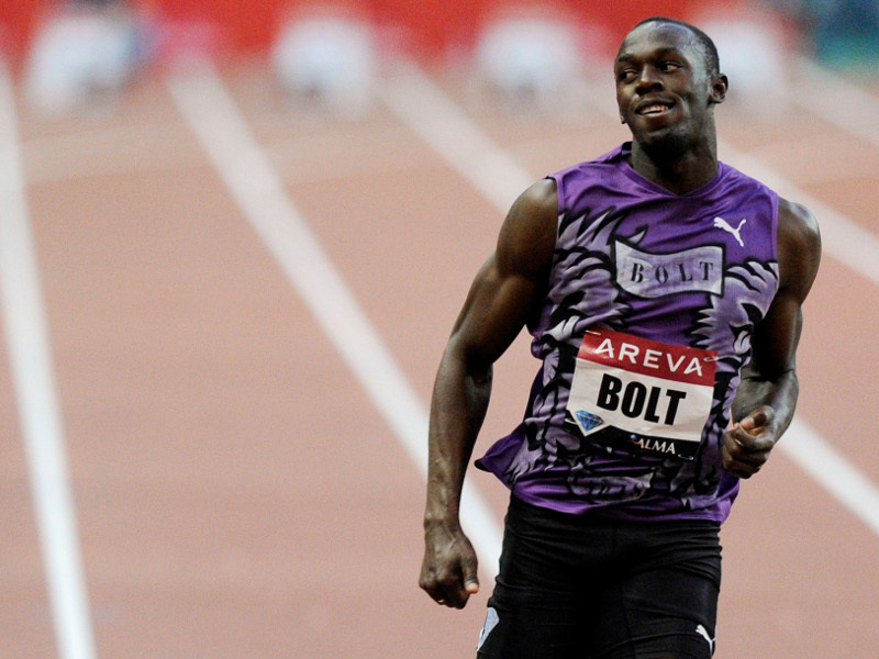 Bolt plante le Rocher