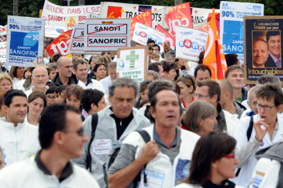 Manifestation contre Sanofi