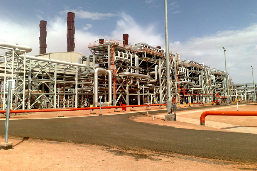 Photo du site BP d'In Aménas, en Algérie.