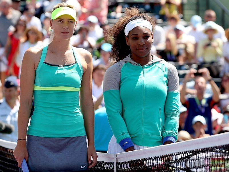 Sharapova tacle Serena Williams