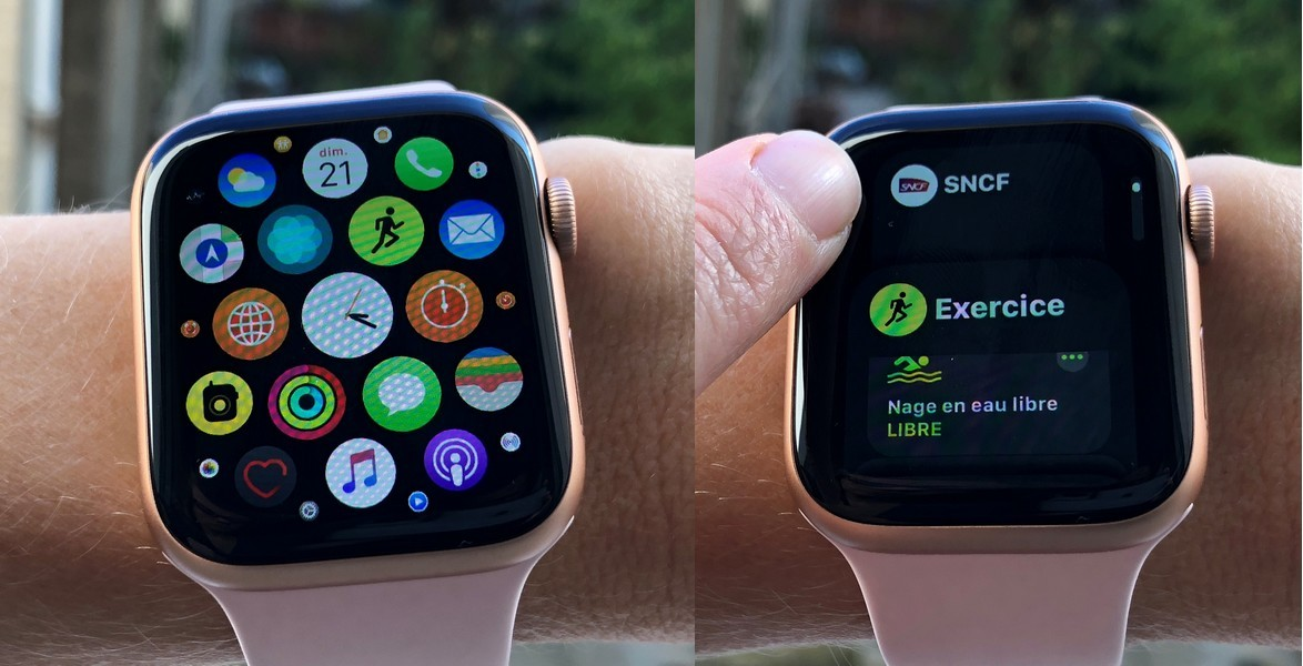 La navigation est plus fluide sur l'Apple Watch.