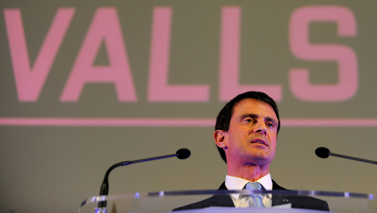 Manuel Valls en meeting à Tours, le 26 mars 2015