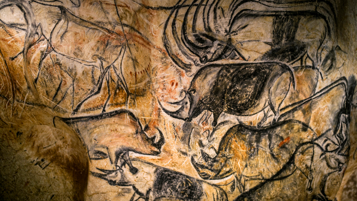 Reproduction d'une fresque de la grotte Chauvet