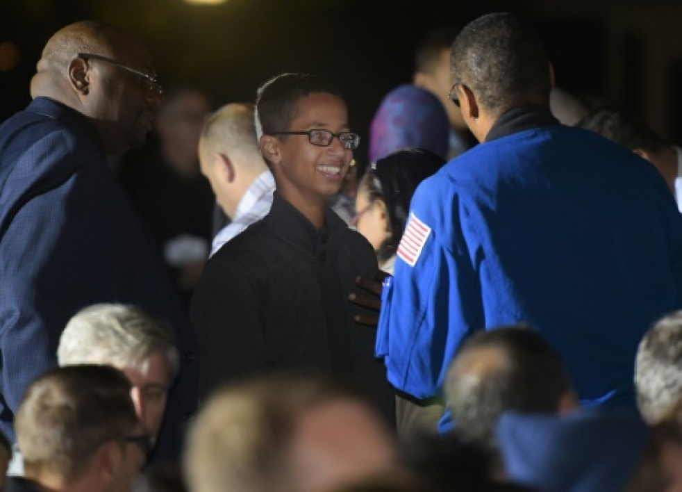 Ahmed Mohamed le 19 octobre 2015 à la Maison Blanche à Washington