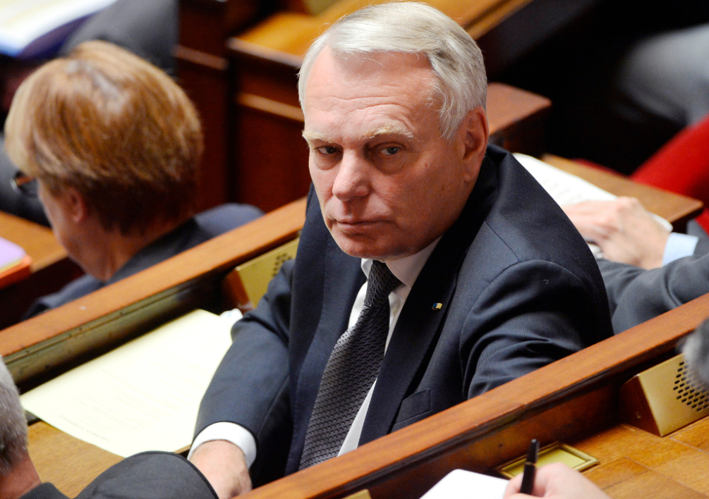 FRANCE, Paris : Former French Prime Minister and socialist party parliament member Jean-Marc Ayrault looks on during a session of questions to the government at the French National Assembly in Paris on July 15, 2014. AFP PHOTO / BERTRAND GUAY