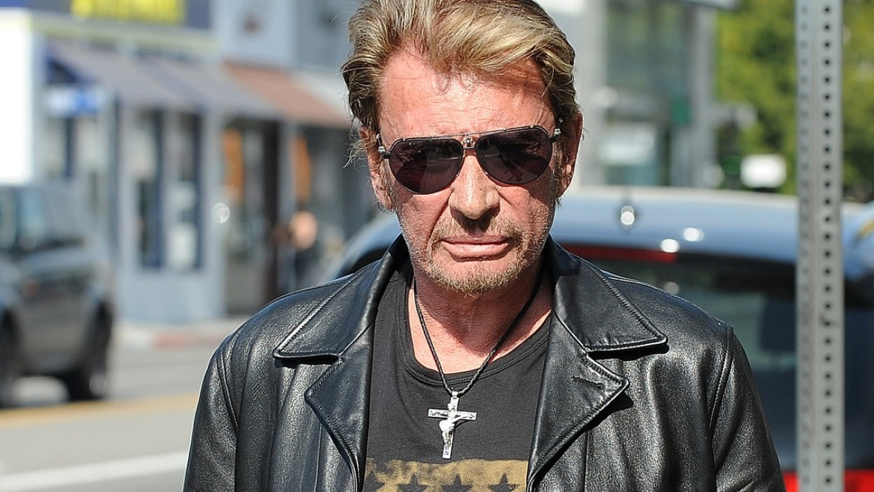 Johnny Hallyday à Los Angeles.
