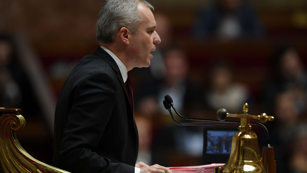 President of the French National Assembly Francois de Rugy speaks during a session of questions to the government at the National Assembly in Paris on November 8, 2017.  CHRISTOPHE ARCHAMBAULT / AFP