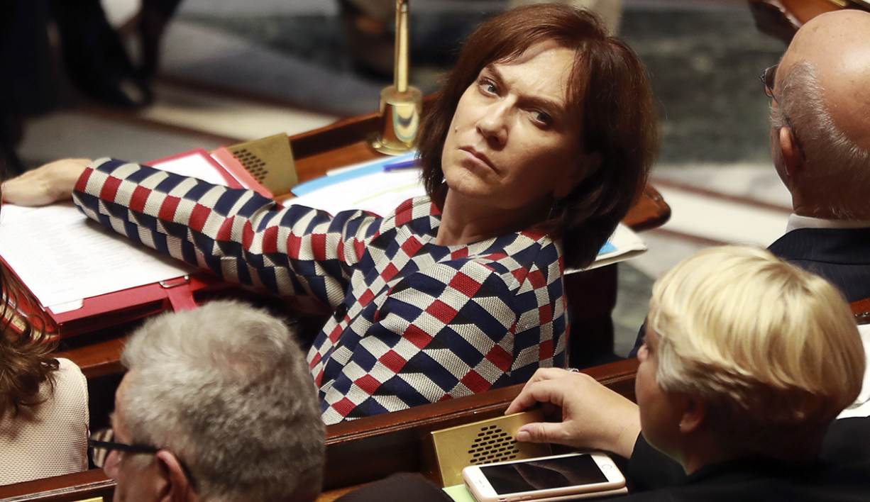French Minister for Family, Children and Women's Rights Laurence Rossignol looks on during a session of questions to the government at the National Assembly in Paris on October 12, 2016.