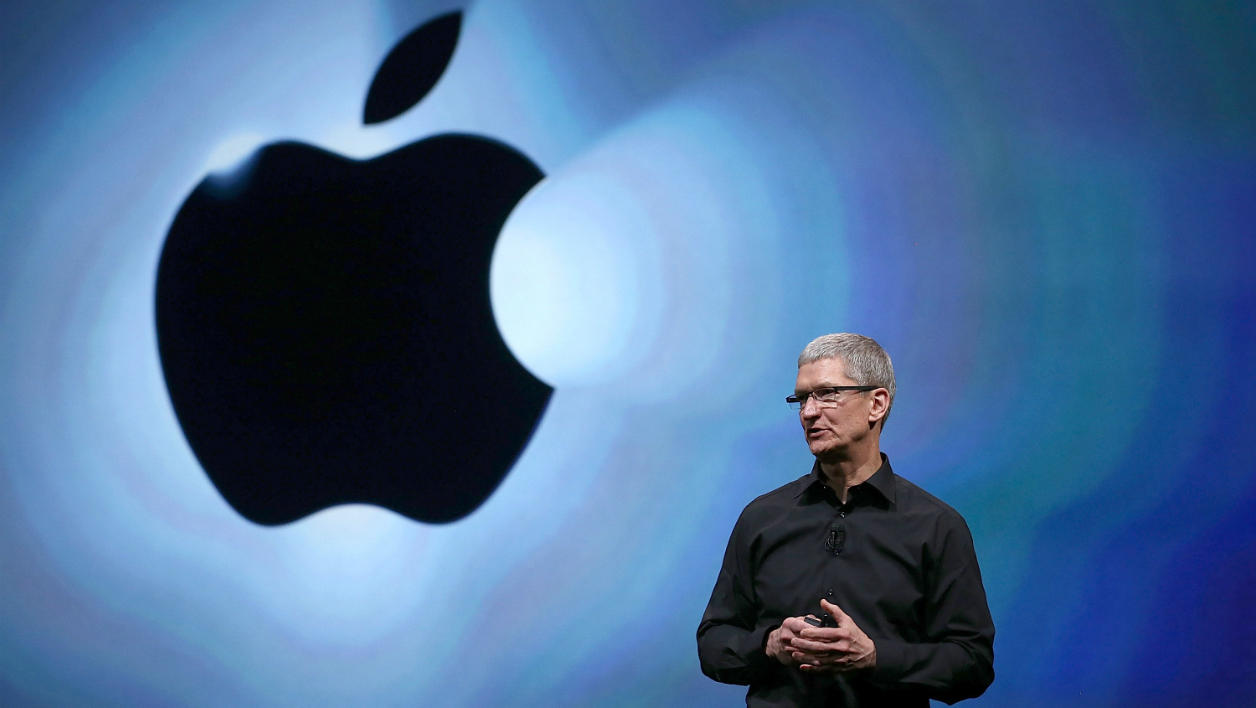 SAN FRANCISCO, CA - SEPTEMBER 12: Apple CEO Tim Cook speaks during an Apple special event at the Yerba Buena Center for the Arts on September 12, 2012 in San Francisco, California. Apple announced the iPhone 5, the latest version of the popular smart phone. Justin Sullivan/Getty Images/AFP