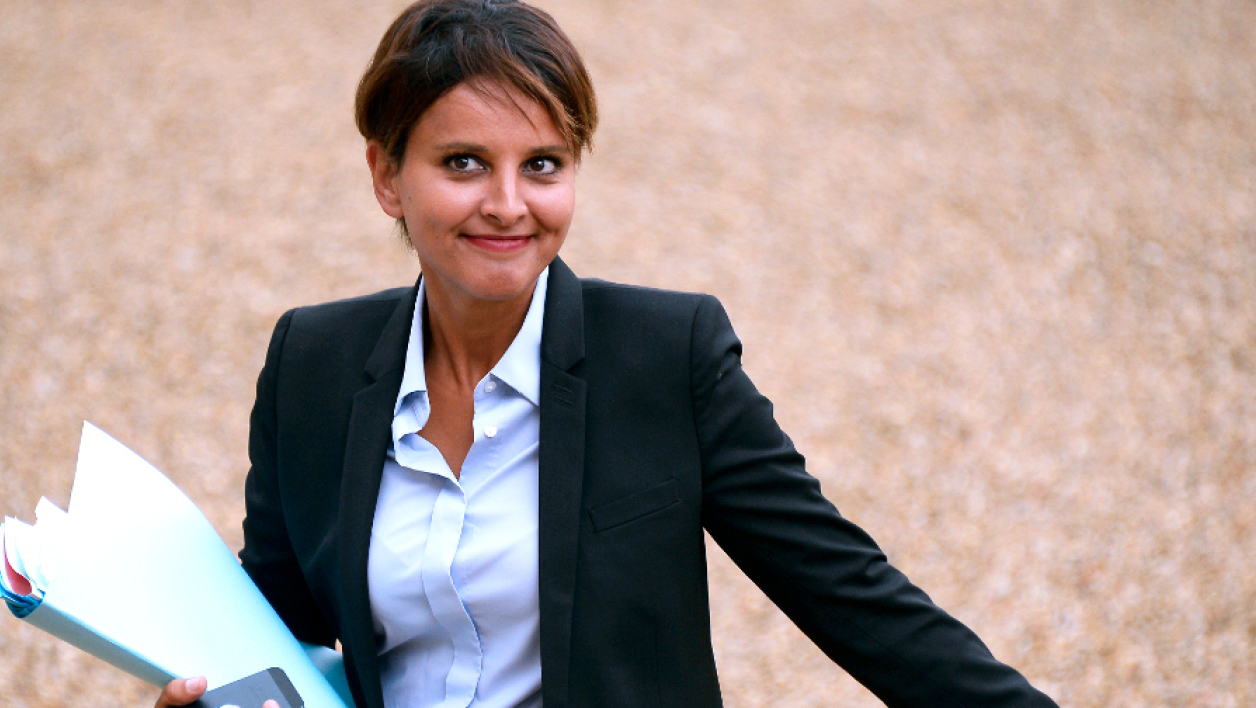 La ministre de l'Education nationale Najat Vallaud-Belkacem - AFP
