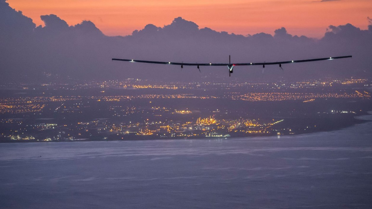 L'avion Solar Impulse lors de son tour du monde sans carburant.