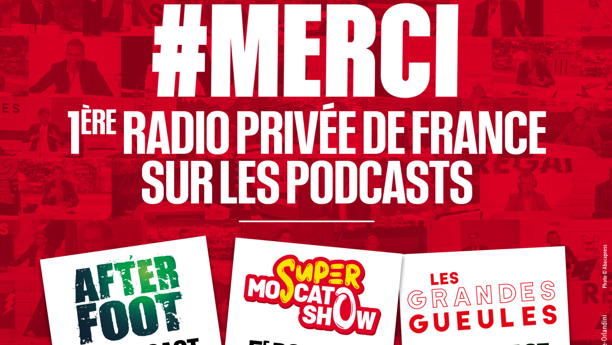 AUDIENCES - Podcasts: RMC, 1ère radio privée de France