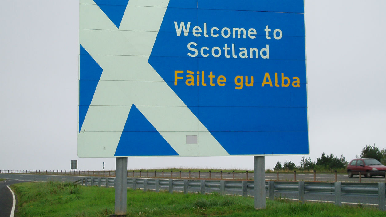 Un panneau de bienvenue en Ecosse. (Photo d'illustration)