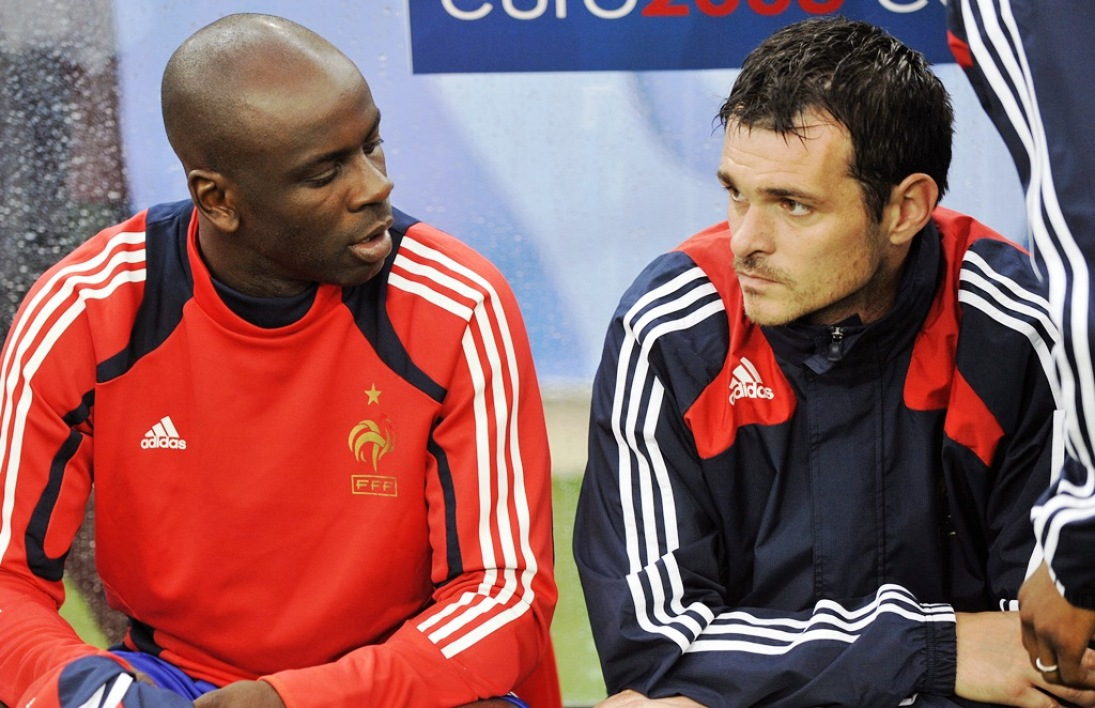 Lilian Thuram et Willy Sagnol, en 2008