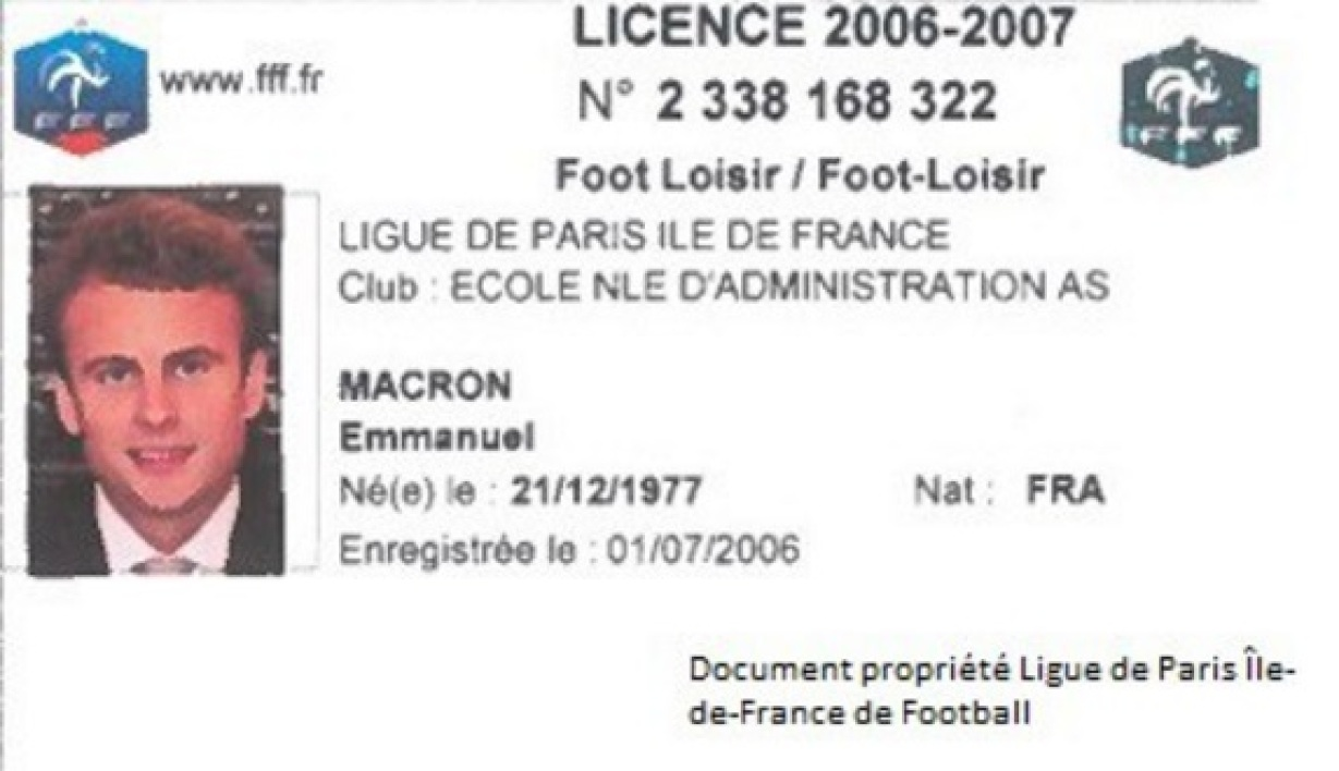 La ligue r v le la derni re licence de foot d 39 emmanuel macron - Ligue ile de france de tennis de table ...