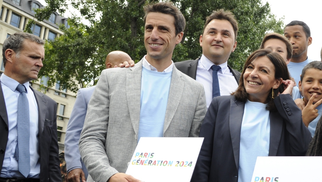Tony Estanguet et Anne Hidalgo