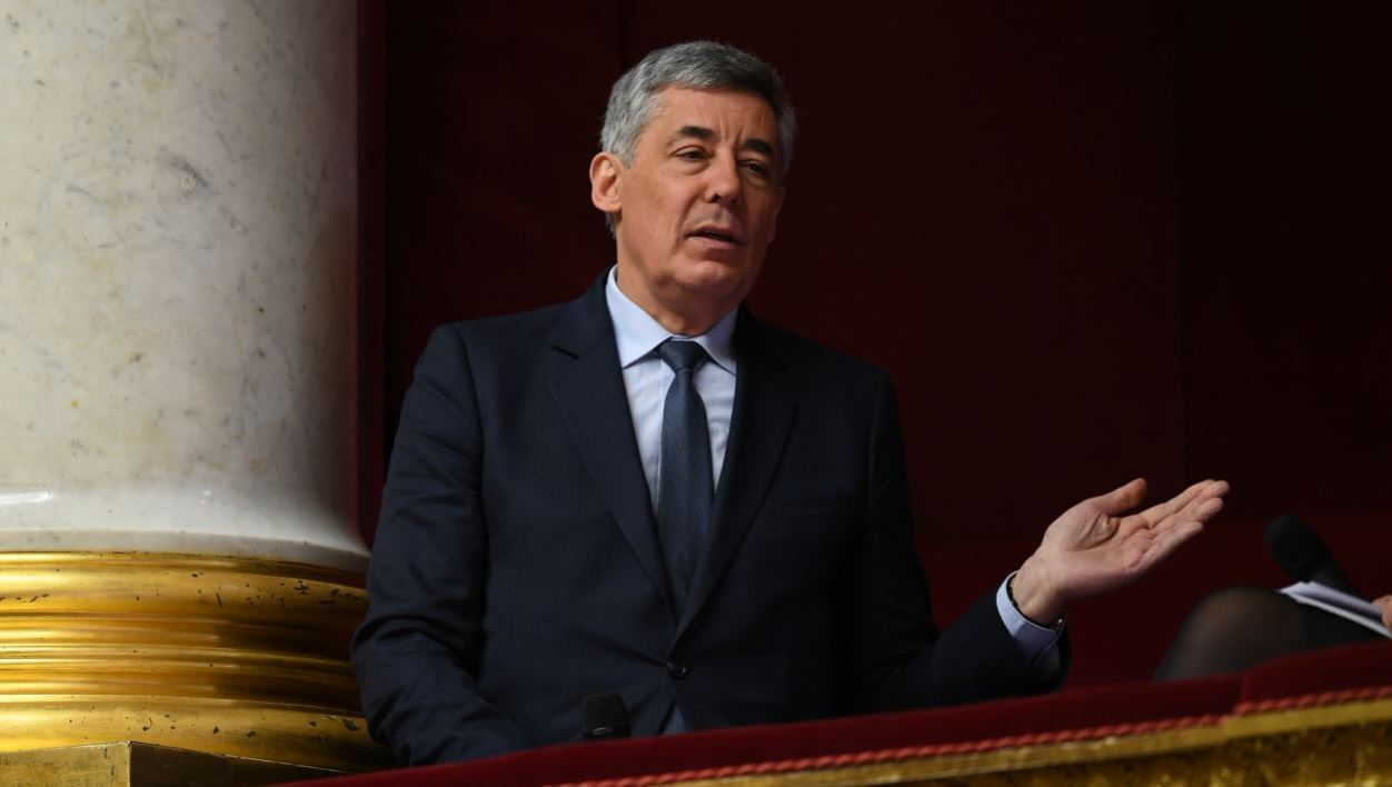 French right-wing Les Republicains party MP Henri Guaino gestures as he speaks prior to a session of questions to the government at the French National Assembly in Paris on January 18, 2017.  Eric FEFERBERG / AFP