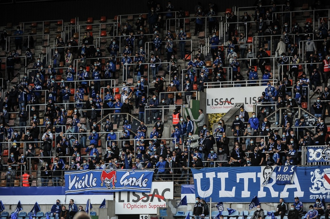 Des supporters strasbourgeois