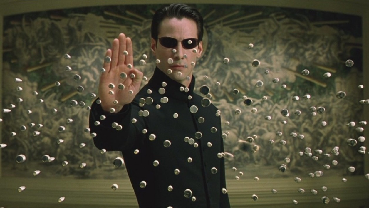 Matrix Reloaded avec Keanu Reeves