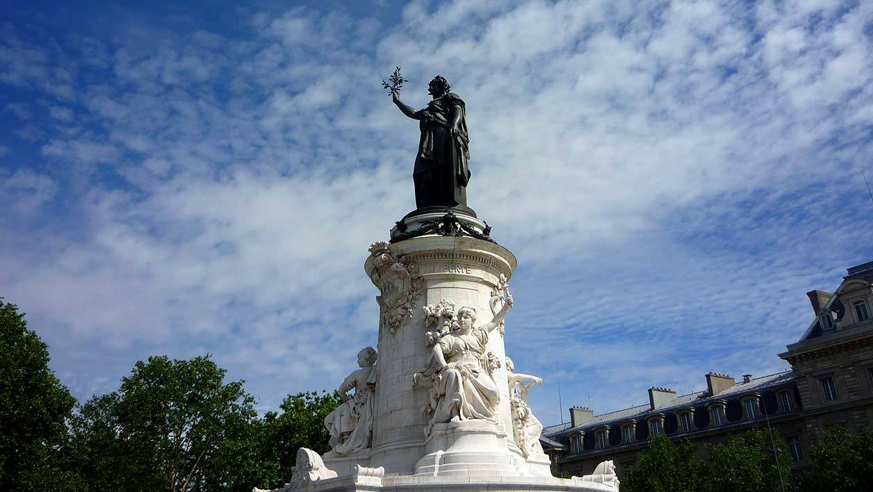 La statue de la Place de la République (Photo d'illustration)