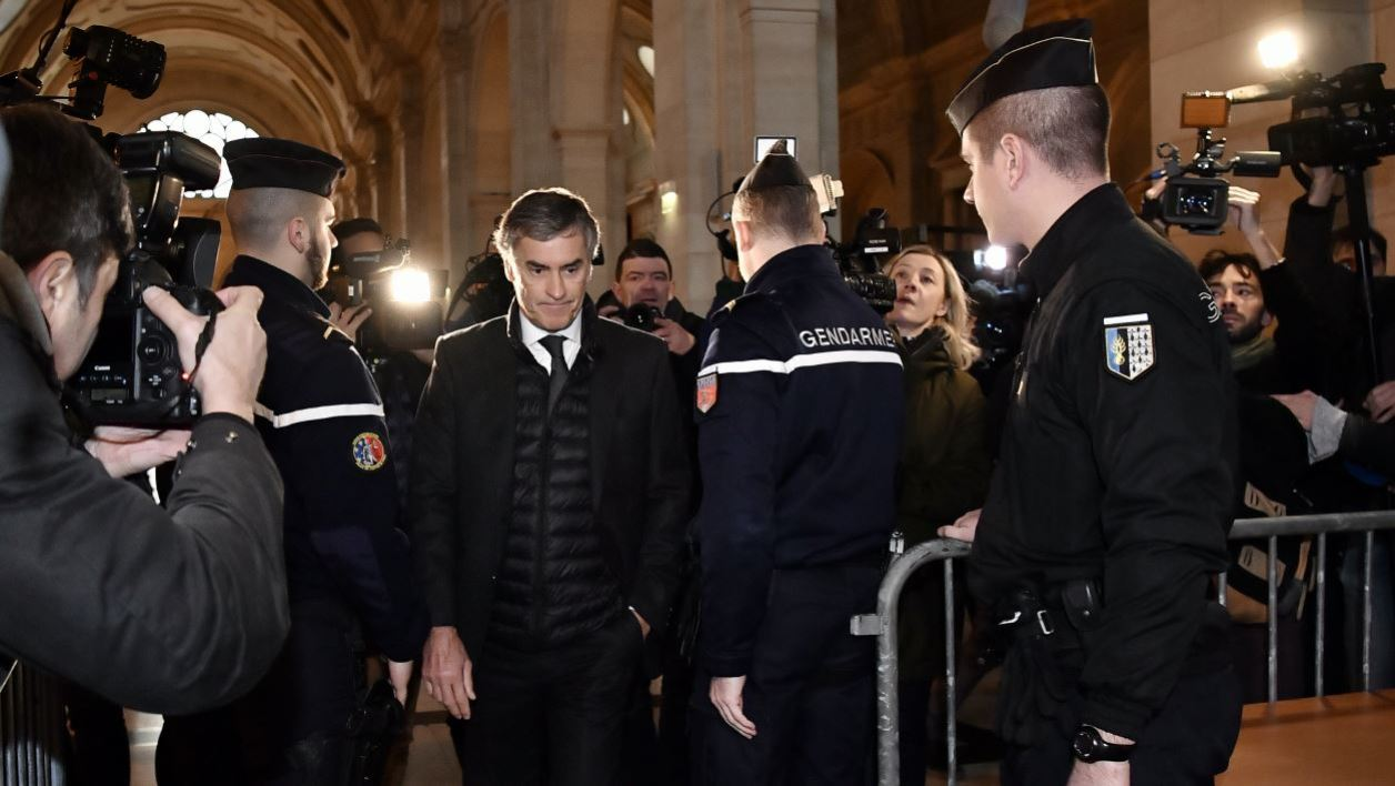 French former budget minister Jerome Cahuzac arrives at Paris courthouse for the verdict of his tax fraud trial on December 8, 2016. The 64-year-old former rising star in the French Socialist Party faces charges of tax evasion and money laundering as well as under-declaring the value of his fortune when he took up his post in 2012. Prosecutors have called for a three-year jail term and a two-year sentence for his co-defendant and ex-wife, dermatologist Patricia Menard.