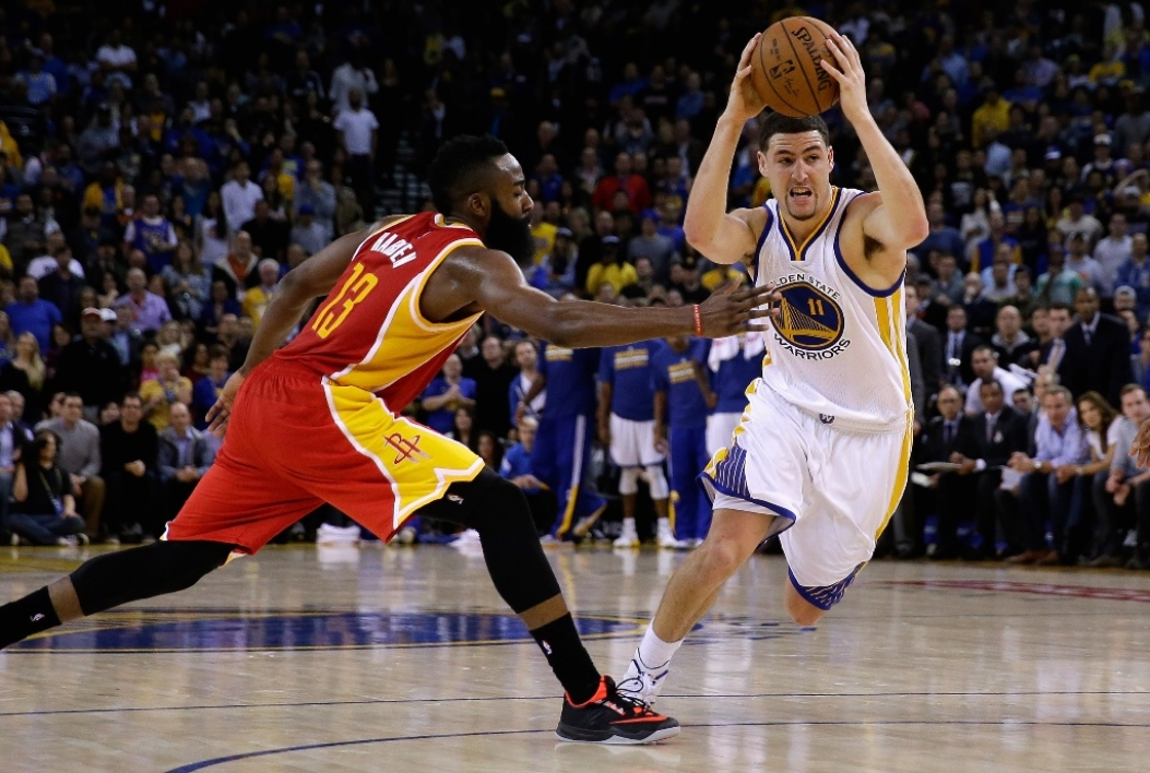 James Harden et Klay Thompson