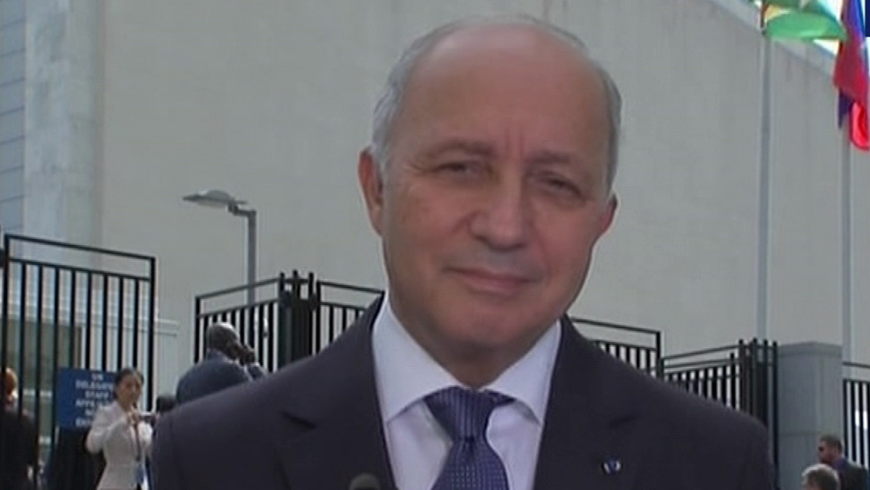 Laurent Fabius au sommet des Nations Unies, le 29 septembre 2015.