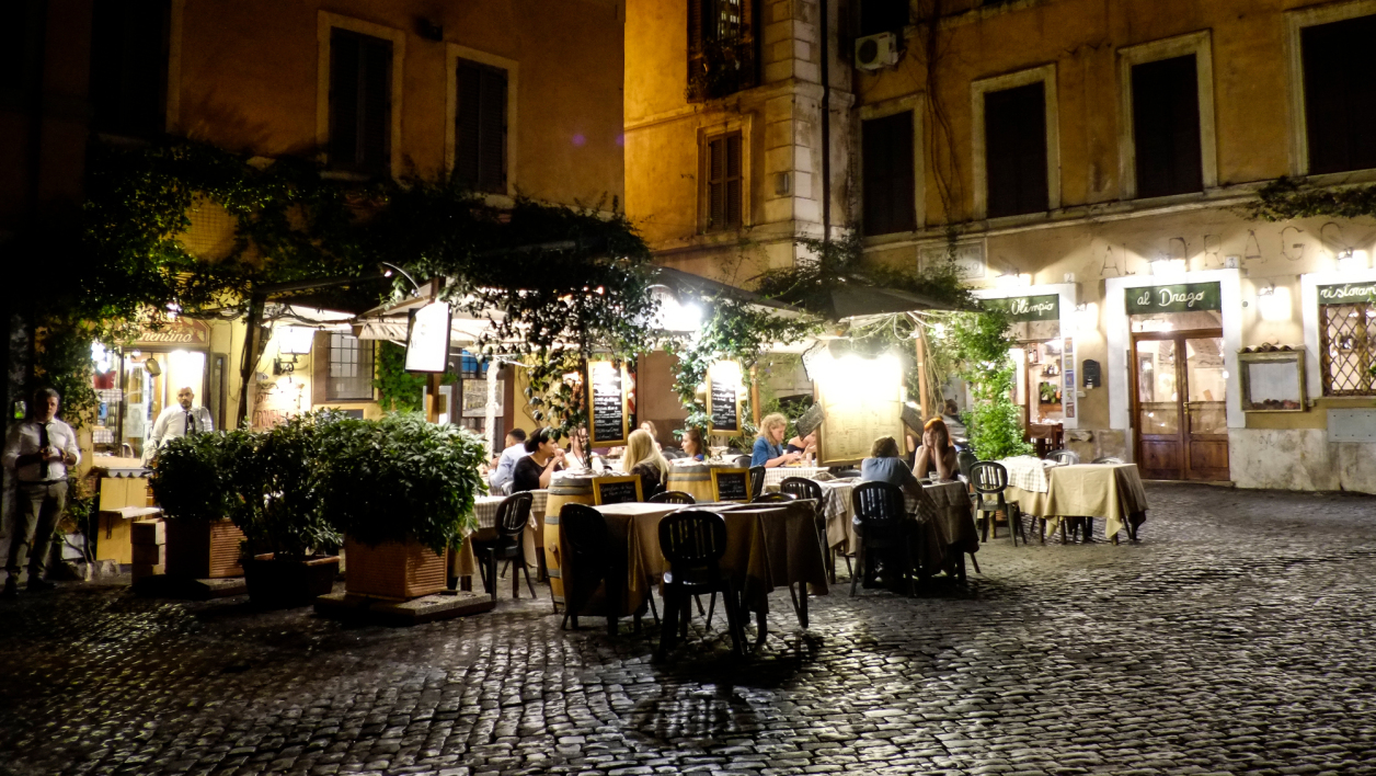 Un restaurant à Rome, en août 2016. (photo d'illustration)