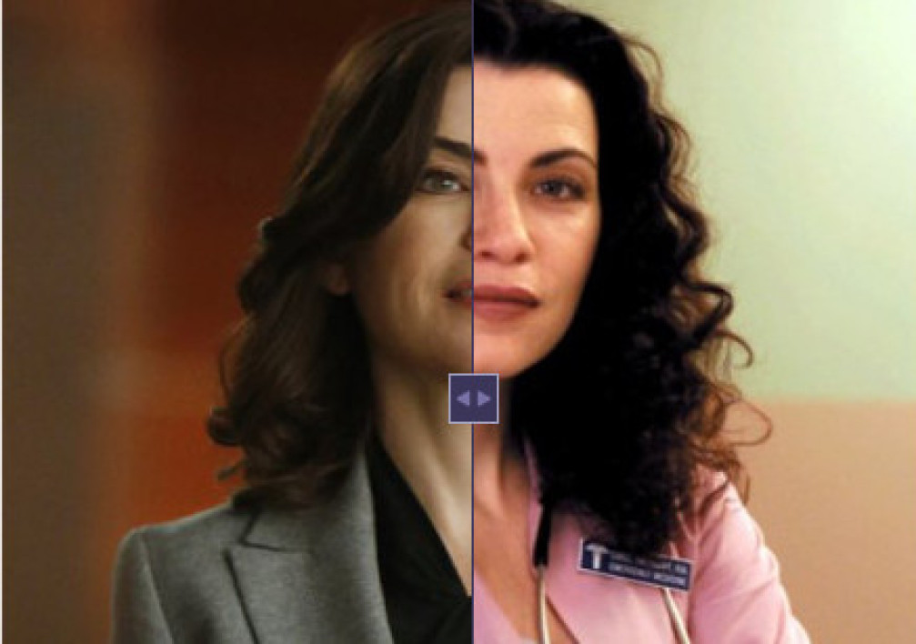 "Julianna Margulies, actrice de ""Urgences"" et ""The good wife""."