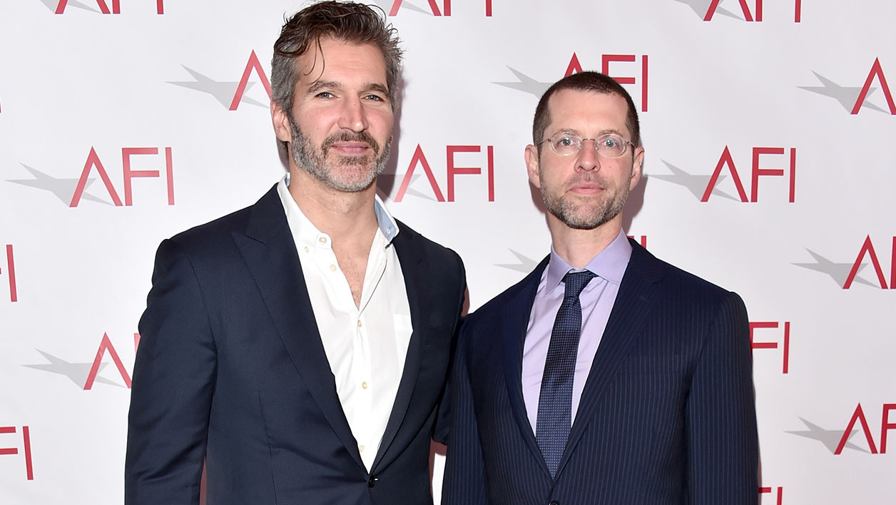 David Benioff and D. B. Weiss à Los Angeles le 6 janvier 2017