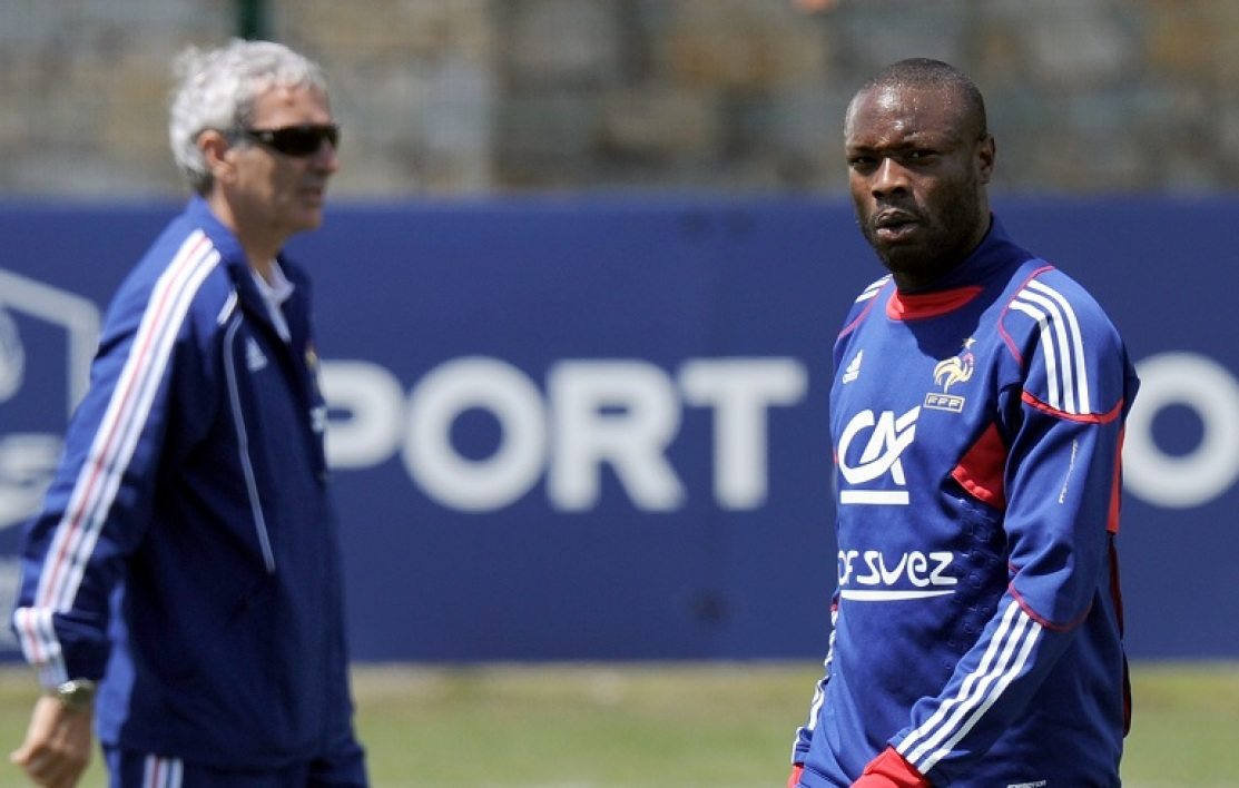 Raymond Domenech et William Gallas en 2010