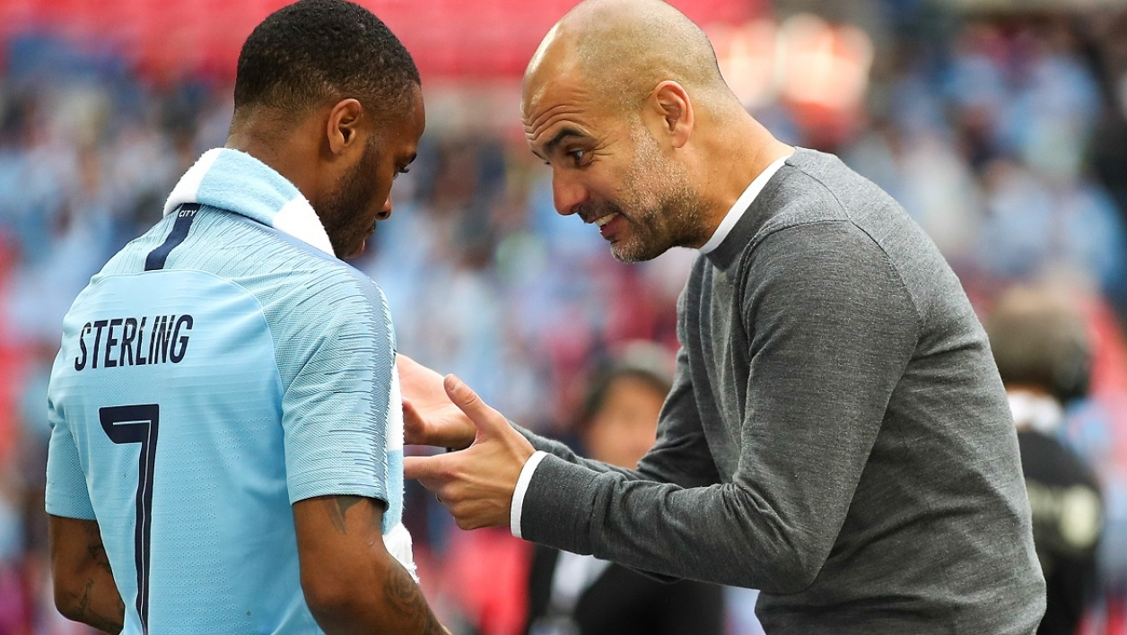 Guardiola et Sterling