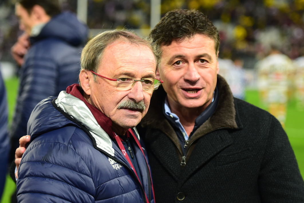 Jacques Brunel et Laurent Marti (UBB)