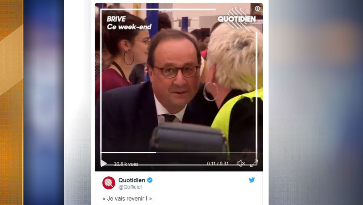 François Hollande ce week-end à Brive.