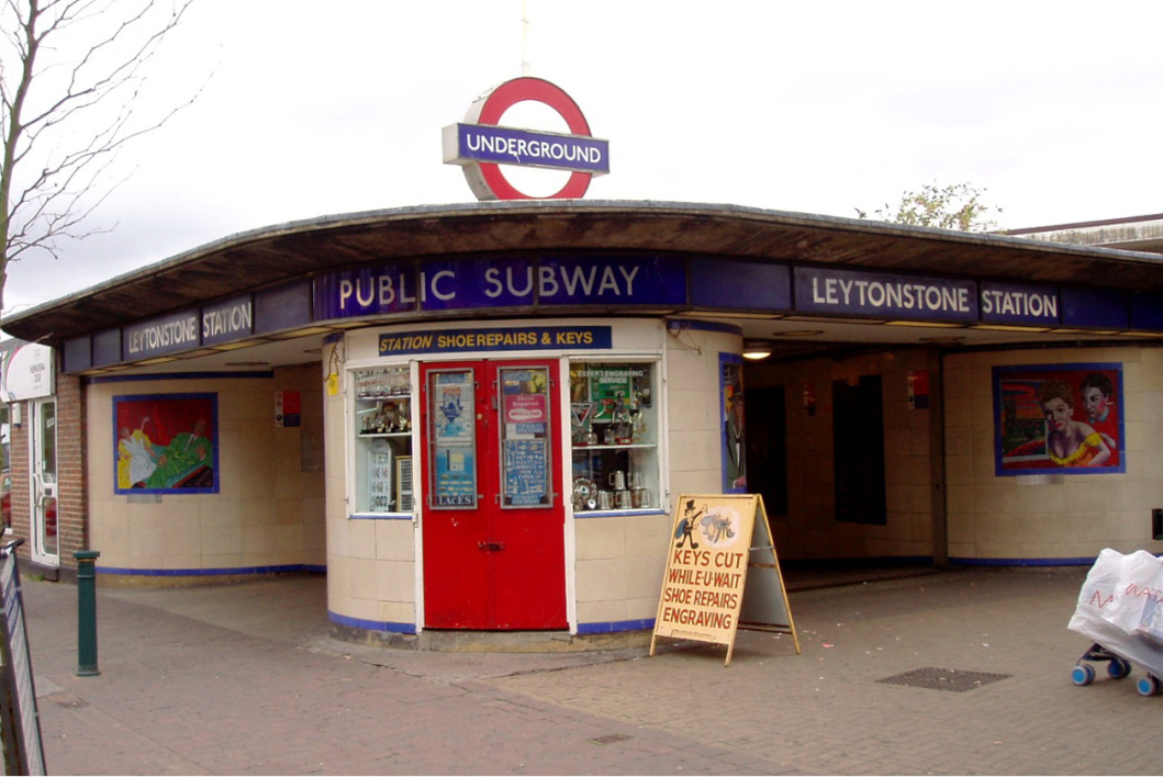 La station de métro de Leytonstone, à Londres. (illustration)