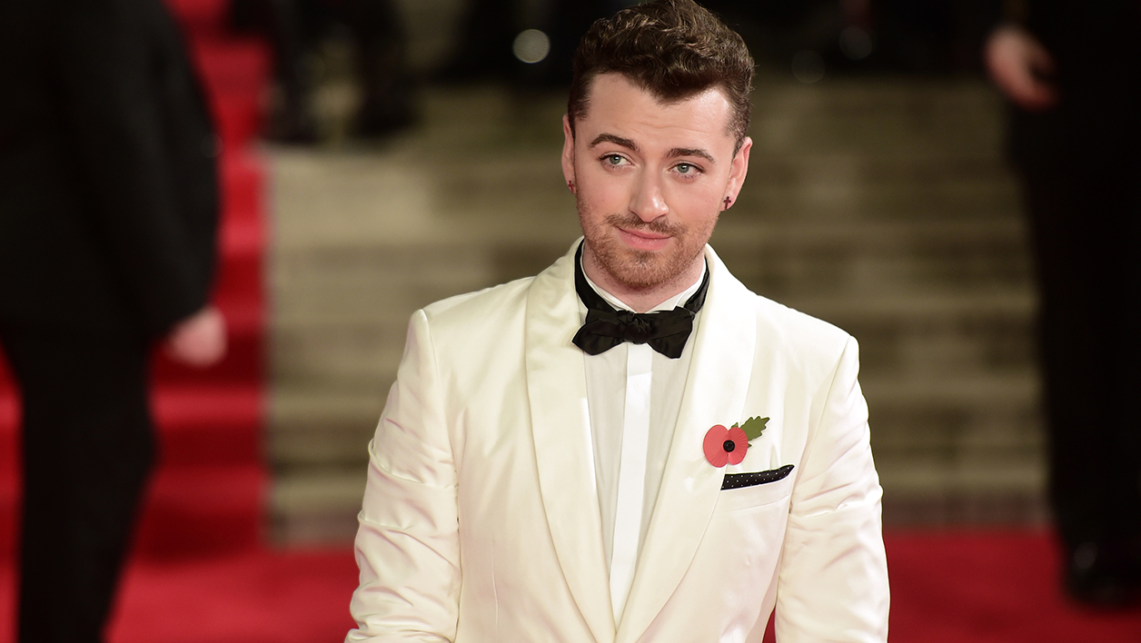 Sam Smith lors de la projection de 007 Spectre à Londres