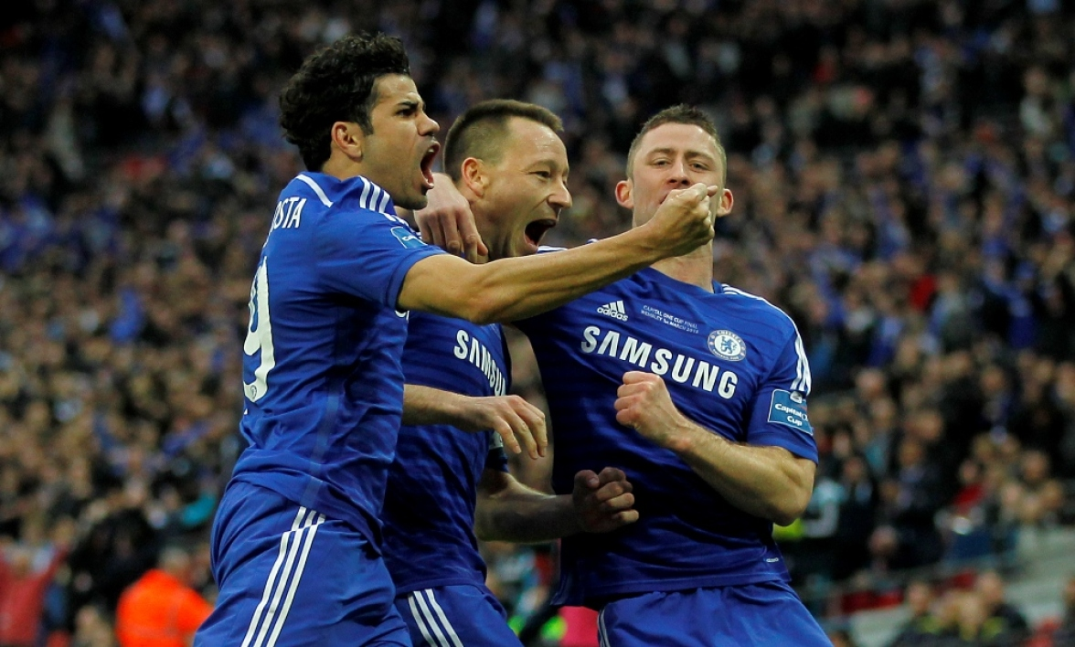 Diego Costa, Johen Terry et Gery Cahill