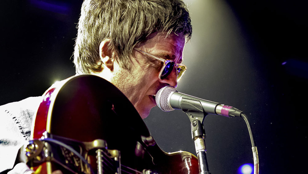 British Noel Gallagher and his High Flying Birds perform on stage during the Roskilde Festival 2015 in Roskilde, southwest of Copenhagen on July 1, 2015. This year's festival runs from June 27 until July 4, 2015.