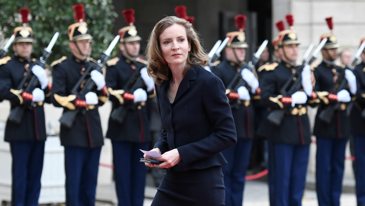 French MP for the right-wing Les Republicains (LR) party Nathalie Kosciusko-Morizet arrives at the Elysee presidential Palace to attend Emmanuel Macron's formal inauguration ceremony as French President on May 14, 2017 in Paris.  STEPHANE DE SAKUTIN / AFP