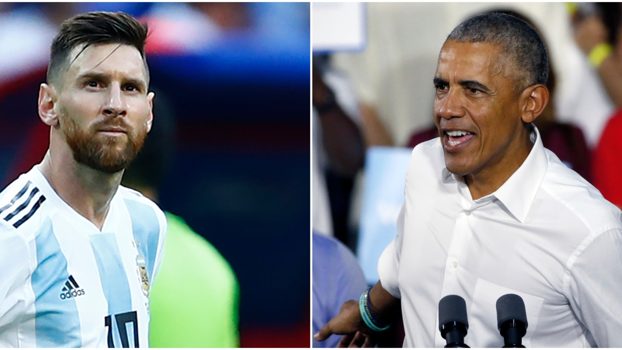 Lionel Messi et Barack Obama