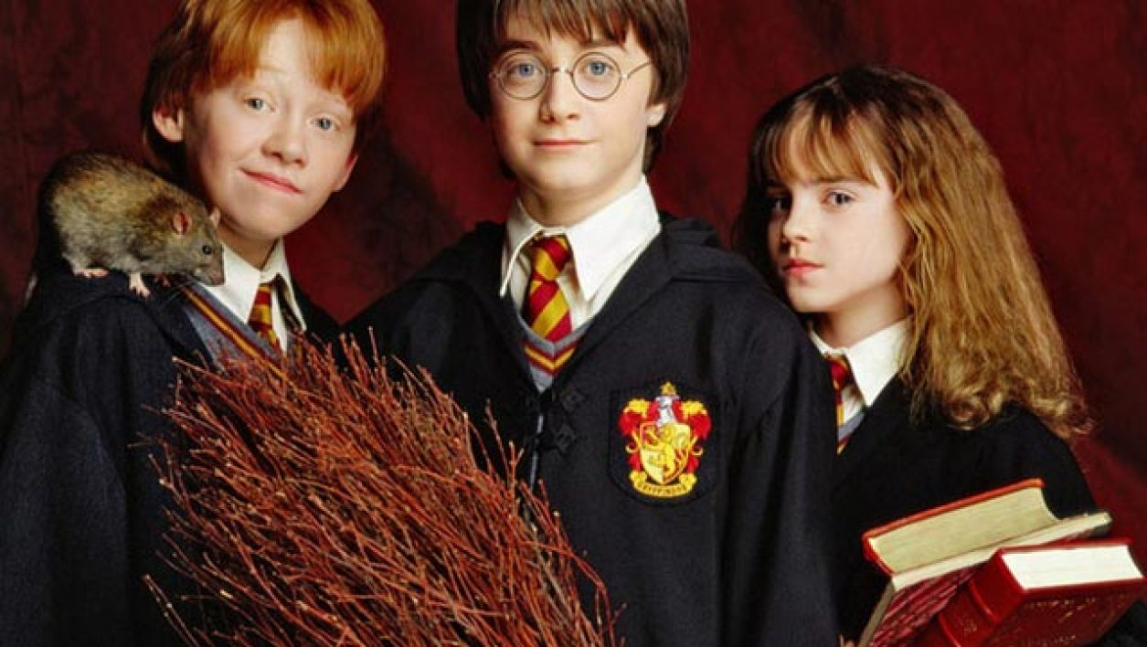 "Ron, Harry et Hermione dans le premier ""Harry Potter""."