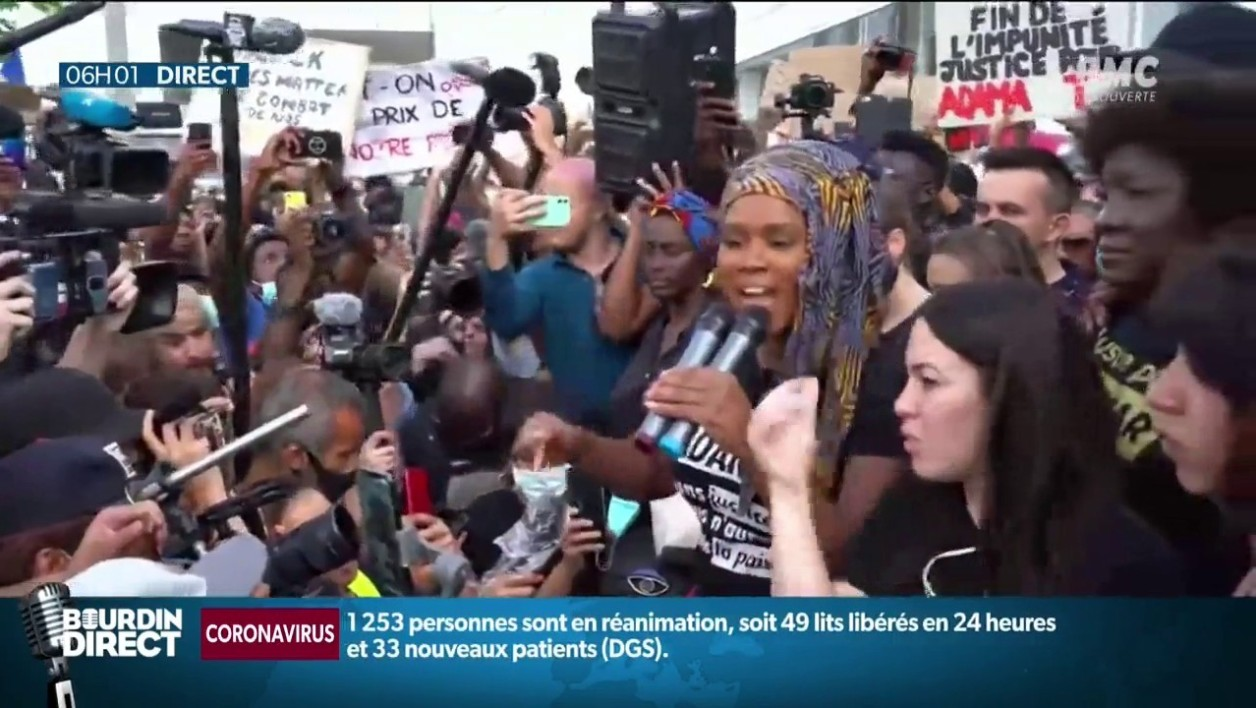 Affaire Adama Traoré: plus de 20.000 manifestants à Paris, des incidents en fin de cortège
