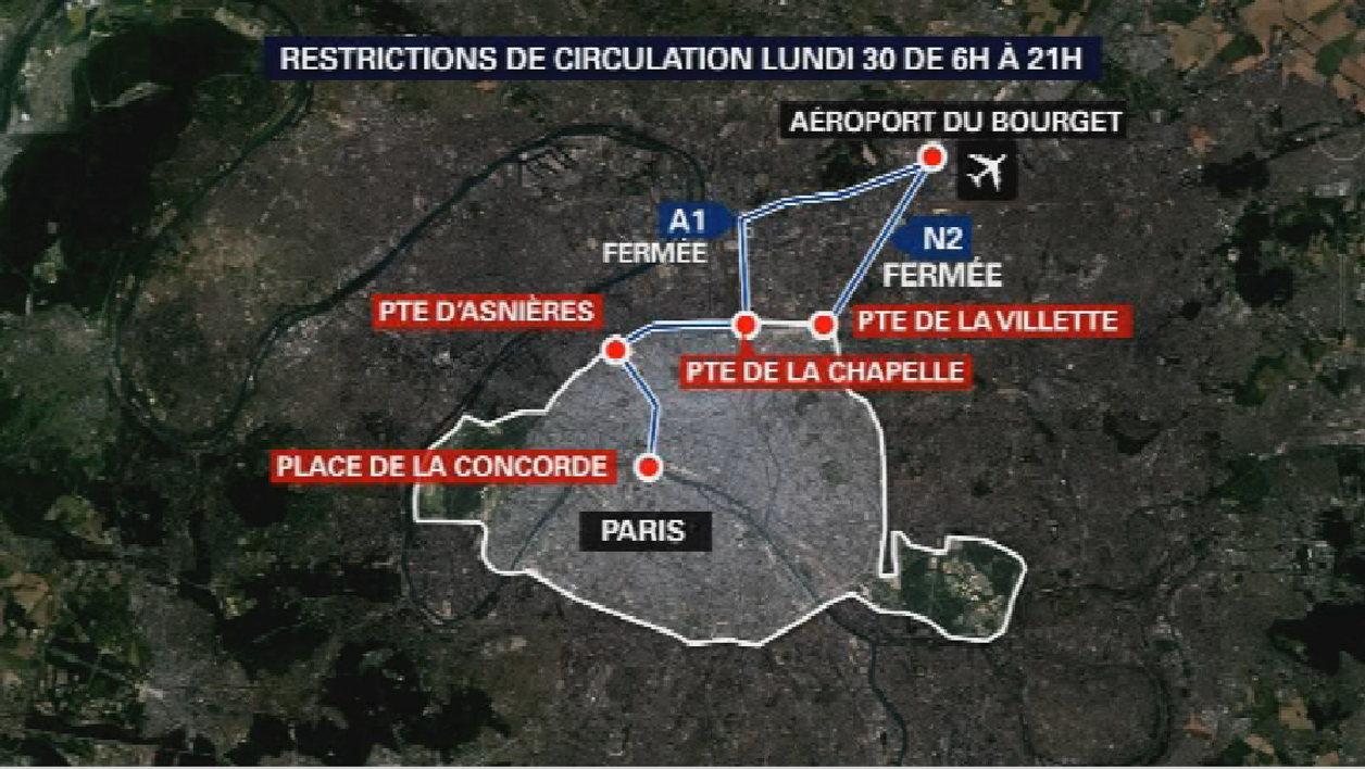 Les conditions de circulation lundi de 6h à 21h en Île-de-France.