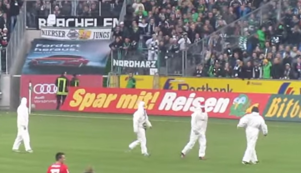 EN VIDEO : de violents affrontements entre des hooligans de Cologne et Mönchengladbach
