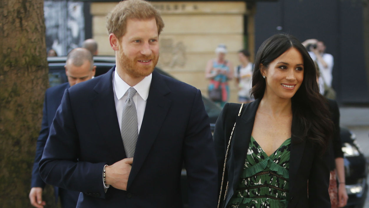 Le prince Harry et Meghan Markle à Londres, le 21 avril 2018