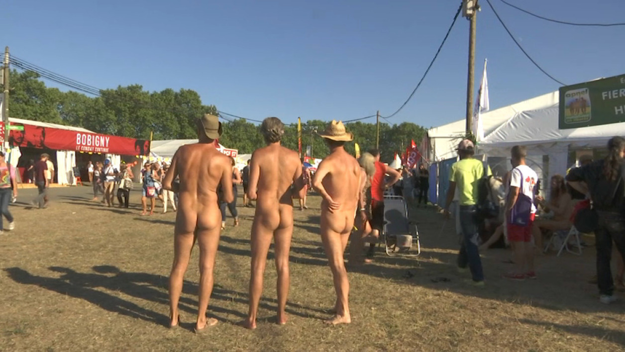 Des naturistes à la fête de l'Humanité en septembre 2016 (photo d'illustration)